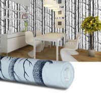 huş ağacı toptan satış-10 Metre / grup Birch Ağacı Woods Duvar Kağıdı dokunmamış Rulo Modern Tasarımcı Wallcovering Oturma Odası Için Basit Duvar Kağıdı
