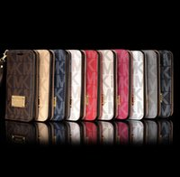 Wholesale Full Wallet - Full Body Leather Wallet Flip Phone Case For IPhone X 8 7 6S 6 Plus Back Cover Phone Protective Shell Coque with String