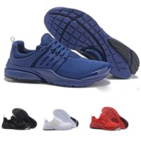 Wholesale fine fabrics - Presto BR QS Women Men Running Shoes Fine Mesh Mesh Breathable Cheap Sneaker Red Blue Triple White Black eur36-46
