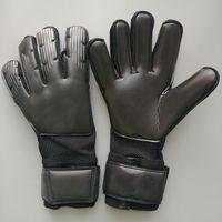 Wholesale premium training - 2018 New Adult Men Women VG3 Flat Cutting 4MM Latex All Black Colors Soccer Gloves Goalkeeper Gloves Premium Training Football Gloves