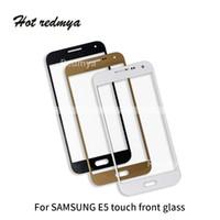 альфа-стекло оптовых-Для Samsung Galaxy E5 E500 E500F E500M Alpha G850 Передняя Сенсорный Стеклянный Экран Телефона Панель Планшета Внешний Заменить Стеклянные Детали