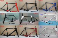 conjuntos de quadros de bicicletas venda por atacado-HOT 2018 Colnago c60 quadro de bicicleta de Estrada de carbono quadro de bicicleta cheia de carbono T1000 quadro completo da bicicleta de carbono conjunto de 25 Multi cor
