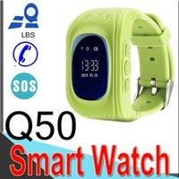 regarder gsm sos achat en gros de-Q50 Enfants LBS Tracker Enfants Montre Intelligente Téléphone SIM Quadri-Bande GSM Safe SOS Appeler Q80 pour Android IOS Carte Sim XCTQ5