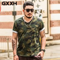 Wholesale Red Shirt Guy - HOT SELL GXXH Oversize Large Size Men's Short Sleeves Printed T Shirts Male Fat Guy Summer Big and Tall Mens Tee Clothes XXL-7XL
