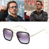 iron großhandel-Infinity War Tony Stark Sonnenbrille Iron Man Brille Rechteck Vintage transparente trendige Sonnenbrille Gothic