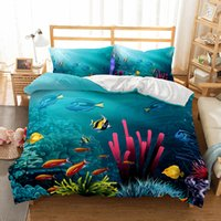 Wholesale underwater paint - Underwater World Pattern 3d Oil Painting Printed Bedding Sets All Sizes Pillow Case Quilt Cover Duvet Cover