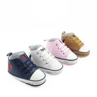 Wholesale 2018 Baby Boy Shoes Sneakers Autumn Solid Unisex Crib Shoes Infant PU Leather Footwear Toddler Moccasins Baby Girl First Walker Shoes