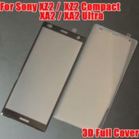 Wholesale Xperia Screen Protectors - 3D Curved Glass For Sony Xperia XA2 XA 2 Ultra XA2Ultra XZ2 XZ 2 Compact 3D Full Cover Tempered Glass Phone Screen Protector Film