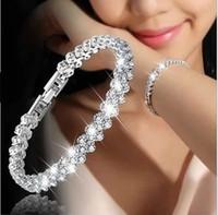 gold tennis armband kristalle großhandel-