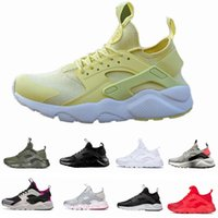 Wholesale white canvas sneakers - 2017 New Design Huarache 4 IV Running Shoes For Women & Men, Lightweight Huaraches Sneakers Athletic Sport Outdoor Huarache Shoes 36-46