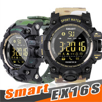 Wholesale waterproof watch camera online - EX16S smart watch camouflage watch Watch Bluetooth IP67 waterproof Remote Camera Fitness Tracker Wearable Running wristwatch for IOS Android