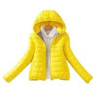 jaqueta de denim acolchoada venda por atacado-Mulheres de 7 cores Atualização Edição Super Quente de Inverno Parka Jaqueta Casaco de Senhoras Mulheres Jaqueta Magro Denim Curto Básico Acolchoado