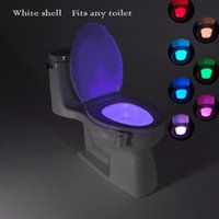Wholesale Pir Motion Activated - Litwod Sensor 2 in 1 Motion Activated night light LED toilet Lamp Human PIR 8 Colours Automatic Night lighting novelty WC light