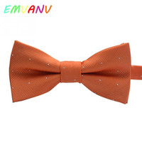 Wholesale korean style kids wearing - 2017 New Fashionable Korean Style Pure Color Little Dots Bow Tie Kid Boys and Girls Party Wear Handmade Bow Tie