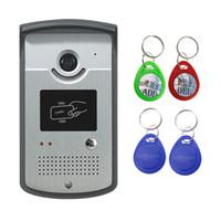 leitor de código de porta venda por atacado-Wired Video Door Telefone Intercom Sistema de Código Campainha Câmera Com CMOS Night Vision Reader Card para XSL-ID Máquina de Entrada