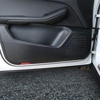 ad982b32b5 4pcs Carbon Fiber Stickers Car Door Anti-kick Protection Film For Porsche  Macan 2014-17 Cayenne 2010-16 Car accessories