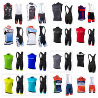 Wholesale cube jersey bib - CUBE FANTINI team Cycling Sleeveless jersey Vest bib shorts sets Men High-Quality Breathable Bicycle Clothing Sportswear sets Q42341