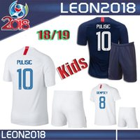 Wholesale Children United States - Kids kits 2018 2019 USA PULISIC Soccer Jersey 18 19 DEMPSEY BRADLEY ALTIDORE WOOD America youth Football jerseys child United States Shirt