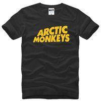 monos de roca al por mayor-Rock Arctic Monkeys carta impresa para hombre camiseta de los hombres Camiseta verano nueva manga corta camiseta de algodón Tee Camisetas Hombre