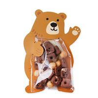 Wholesale gift wrapping plastic online - 10 Creative cookie bag Carton cookie bag Lovely rabbit candy bag Weeding sugar bags gift kangaroo wrap baking decorative packing PB02