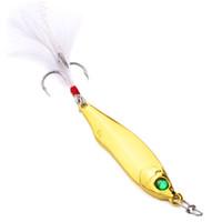 ingrosso oro pesce-Esca piccola Oro duro Argento Fancyy Lure Hook Paillettes classico Offshore Pesca con angolino Mandarino Pesca Pesca Uomo Donna 4 3sb cc