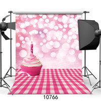 Wholesale backdrop computer printed scenic background resale online - Cake Candles Happy Birthday Vinyl Backdrops Customized computer Printed Photography Background for photo studio Photo Background