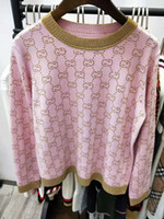 Wholesale sweater beads resale online - 117 New Arrival Autumn Sweater Crew Neck Beads White Pink Black Long Sleeve Pullove Brand Same Style Luxury QIAN