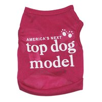Wholesale pets clothing colors online - Small Dog Wear Soft Polyester Pet T Shirt Vest Colors Summer Spring Cat Puppy Clothes