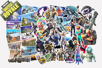 Wholesale 55 set New Game Fortnite Graffiti Sticker Personality Luggage DIY stickers cartoon PVC Wall stickers bag accessories kids gift B001