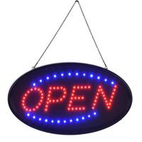 lumières menées extérieures de disco achat en gros de-LED enseigne lumineuse néon vente chaude super brillamment personnalisé led signe lumineux led signe ouvert panneau d'affichage semi-extérieur livraison gratuite