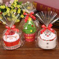 décorations de petit gâteau rose achat en gros de-1 pcs Joyeux Noël Cadeau Cupcake Coton Serviette Natal Noel Nouvel An Décoration De Noël Décorations pour La Maison Enfants Enfants 30x30cm