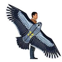 kinder drachen geben verschiffen frei großhandel-Kostenloser Versand 1.8m Eagles Großer Drachen Mit Linie Und Griff Neuheit Fliegen Hohe Höhe Kinder Geschenke