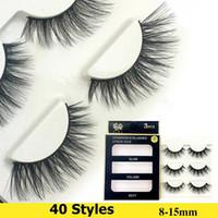 Wholesale Volume Hair Styles - New 40 Styles 3D Eyelashes Eyelash Extension 100% Handmade Thick Volume Long False Eye Lashes Eye Makeup Kit