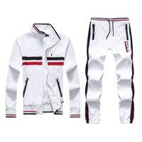 Wholesale turtleneck jacket men - Men's Hoodies and Sweatshirts Sportswear Man Polo Jacket pants Jogging Jogger Sets Turtleneck Sports Tracksuits Sweat Suits