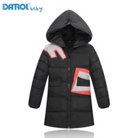 Wholesale large girls winter coats - Fashion Large Size X-Long Down Jackets For Girls Solid White Duck Down Girl Winter Coat Kids Boy Outwear Children Down Jackets