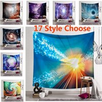 ingrosso bohemien tiro coperta-150*130CM Bohemian Galaxy Sky Star Print Tapestry Wall Hanging Beach Picnic Throw Rug Blanket Decor Outdoor Yoga Kids Mat HH7-1209