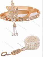 1920s Flapper Great Gatsby Tiara Crowns Bridal Hair jewelry Wedding Headband vintage hair accessories coroa noiva head chain
