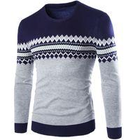 Wholesale british knitting wool online - Sweater Pullover Men Male Brand Casual Slim Sweaters Men British Style Slim Hedging O Neck Men S Sweater XL