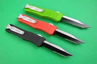 Wholesale Special Microtech Tanto blade With Serrated A161 Small edditon camping knife pocket knife survival outdoor knife knives with nylon bag