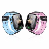 touchscreen fernbedienung großhandel-Smart Watch Kids Armbanduhr Touchscreen GPRS Locator Tracker Anti-Lost Smartwatch Babyuhr mit Remote-Kamera-SIM-Anrufe