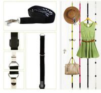 asılı giyim kancası toptan satış-Kapı Asma Çanta Kanca Raf Halat İpi Organizasyonu Araç Kutusu Paketi HH7-1025 sonra Ayarlanabilir Depolama Tutucular Ve Çanta Giyim için Rafları