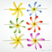 ingrosso giallo fiori falsi-Simulazione Eva Chrysanthemum Giallo Artificiale Schiumato Hawaii Fiore Fatto A Mano Arte E Artigianato Decorazione Fiori Finti Spedizione Gratuita 1my Ww