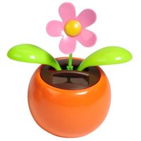 Al por mayor-LeadingStar Solar Toy Dancing Flower Assorted Colors Great como regalo o decoración