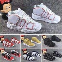 yeni üniversite toptan satış-2018 Yeni 96 QS Olimpiyat Varsity Bordo Çocuklar için Basketbol Ayakkabı 3 M Scottie Pippen Uptempo Erkek Kız Spor ayakkabı Sneakers 28-35
