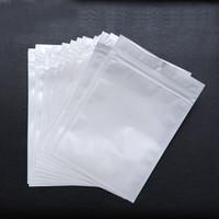 trava comida venda por atacado-Melhor Qualidade Transparente + branco pérola Plástico Poli OPP zíper embalagem Zip bloqueio Pacotes de Varejo Jóias comida saco de plástico PVC Saco de embalagem de varejo
