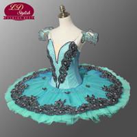 ingrosso tutus verde adulto-Tutu di balletto classico verde adulto per la concorrenza Tutu di balletto professionale blu blu Tutu LD8973