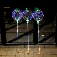 Wholesale Birthday Wave - Bobo Ball LED line with Stick Wave Ball 3M String Balloon light Up for Christmas Wedding Birthday Home Party Decoration