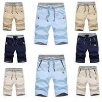 Wholesale business trousers - Summer Short Pants for Men 2018 Hot New Cotton Linen Fashion Casual Fifth Pants Youth Slim Pant Men Business Five Trousers M-4XL