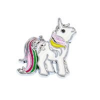 ingrosso borsa in bronzo-prezzo all'ingrosso 50 pz diametro interno 8mm unicorno bel cavallo fai da te diapositiva Charms fit 8mm braccialetto braccialetto collare chiave catena chiave SL559