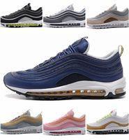chaussures de course les moins chères achat en gros de-bas prix parfait chaussures de sport à semelle pneumatique de haute qualité chaussures de course hommes et femmes de nouvelle arrivée coussin d'air baskets métalliques OG